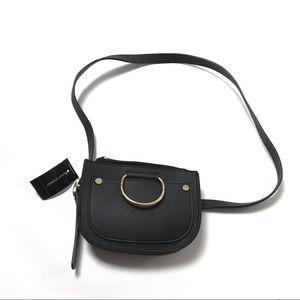 Ashley Stewart Crossbody Bag Black Purse Shoulder